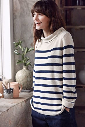 Between Tides, Knitted Breton Jumper  - Seasalt