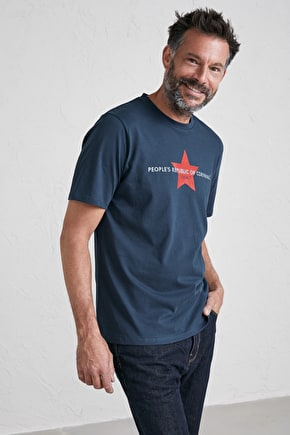Mens Cotton Crew Neck Short Sleeve Cornwall T-Shirt - Seasalt