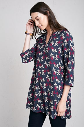 Cinematic Tunic, Swingy A-Line Cotton Twill Dress