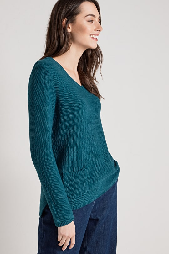 Spin A Yarn Cotton Knitted Jumper - Seasalt