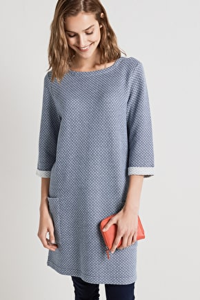 Still Life Tunic - Relaxed Cotton Sweatshirt Style Tunic Top- Seasalt