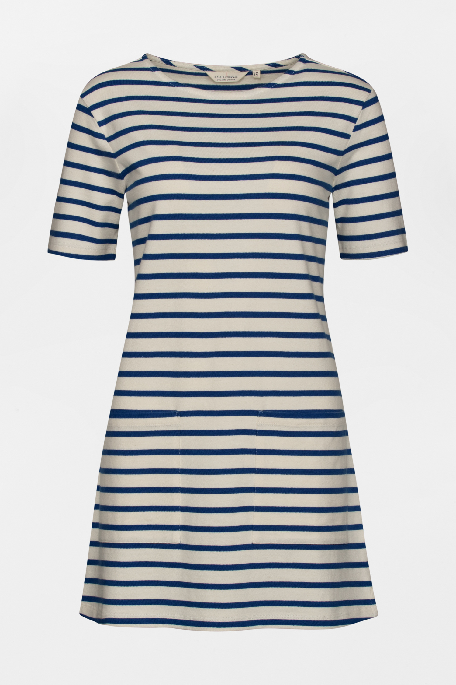 Organic Cotton Nautical Striped Pebble Shore Tunic Seasalt