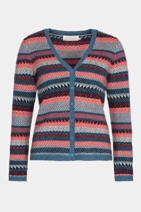 Penveor Cardigan - Fair Isle Merino Wool Ladies Cardigan - Seasalt