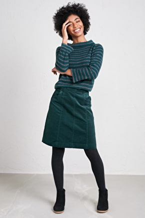 Autumn Feast Skirt, Soft Needlecord A-Line Skirt - Seasalt