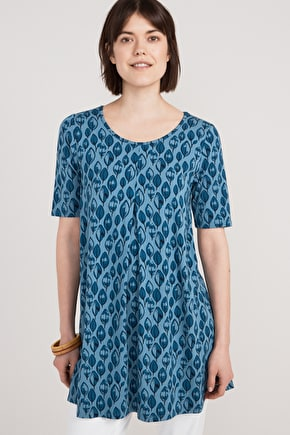 Silky Soft Bamboo Jersey Tunic Top - Seasalt