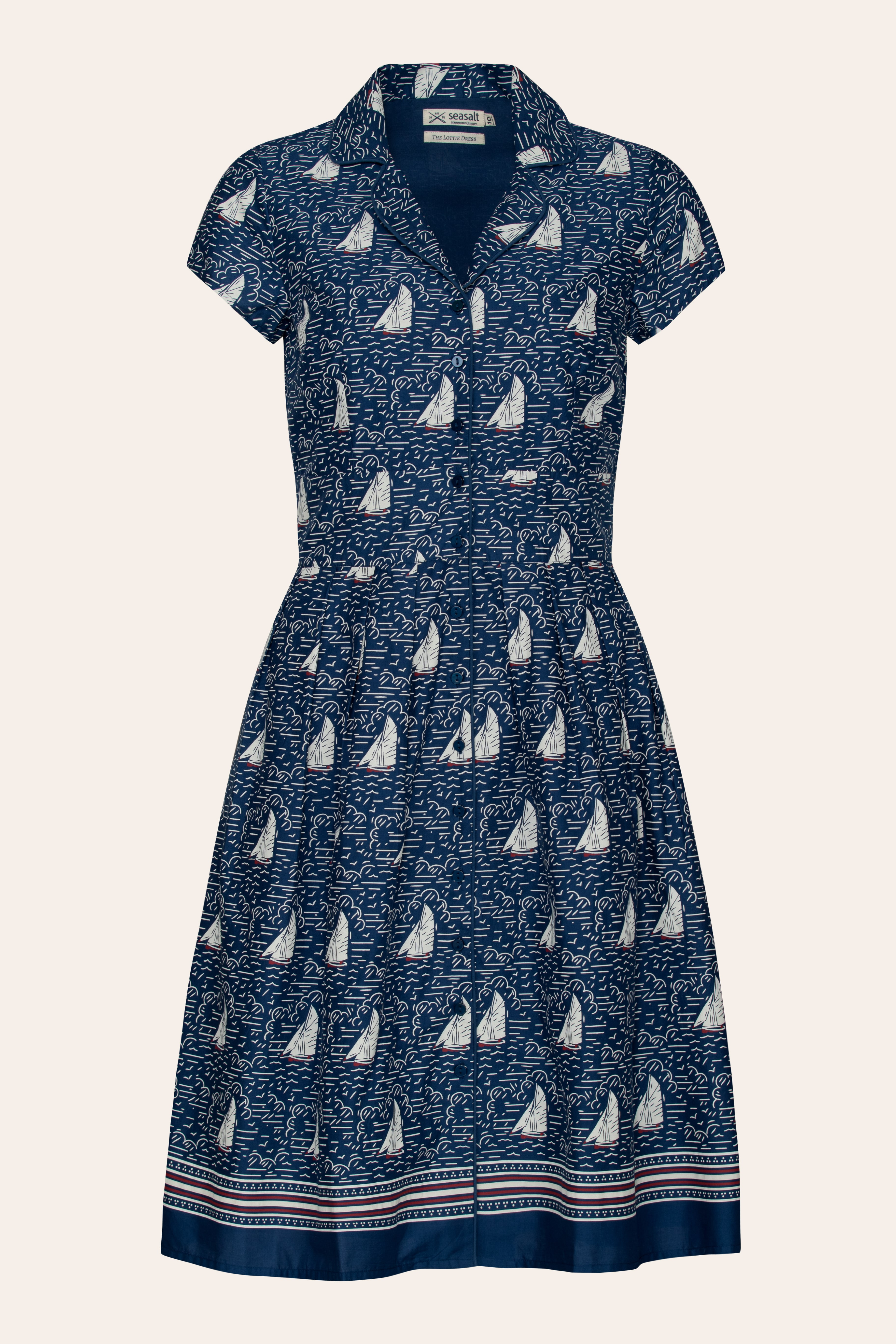 Printed Cotton Fit And Flare Pleated Tea Lottie Dress