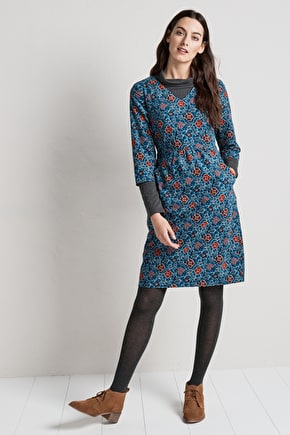 Pretty Shift Dress. In Printed Seasalt Cord & Inspired By Cornwall