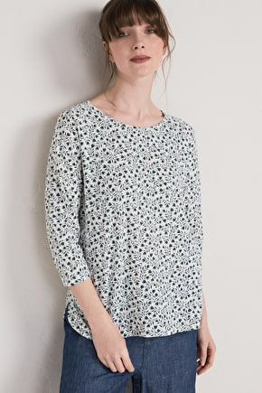 Redon Top, Organic Cotton Ladies Long T-shirt - Seasalt