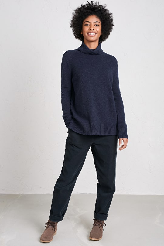 Relaxed Fit Jumper.  In Cosy Merino Blend Yarn - Seasalt