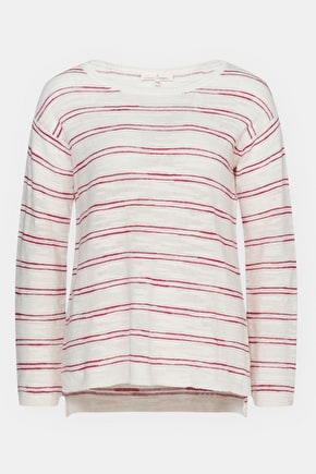 Little Gull Jumper, Relaxed Cotton Linen Blend Striped Knit - Seasalt