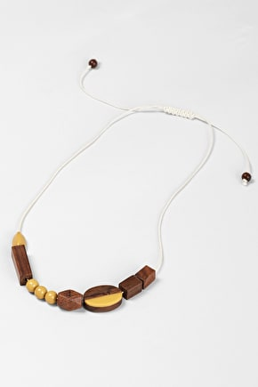 Spitspot colourful wood and resin necklace - Seasalt