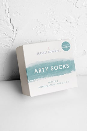 Women's Arty Bamboo Socks Box Of 2 - Seasalt Cornwall