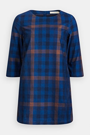 Tea Light Tunic, A-Line Checked Needlecord Tunic  - Seasalt Cornwall