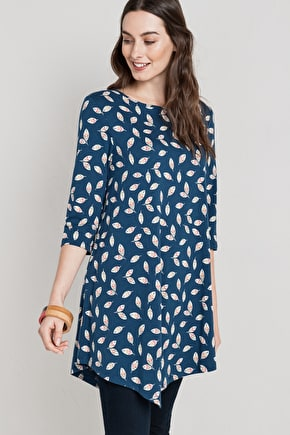 Flattering Asymmetric Tunic Top - Seasalt