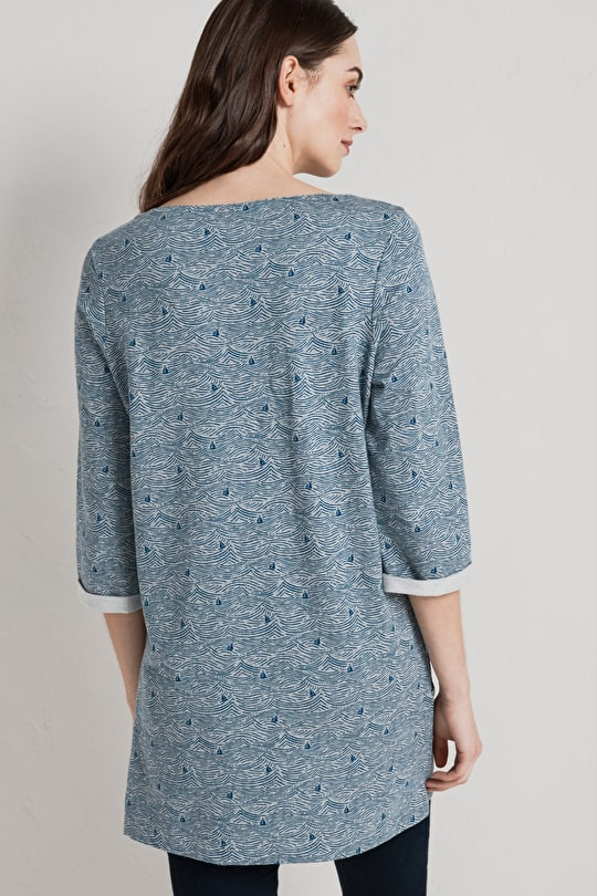 Relaxed Tunic Top, In Organic Cotton Melange - Seasalt