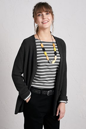 Fox Cove Cardigan, Pretty V-Neck Cotton Cardigan - Seasalt