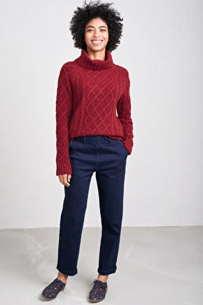 Tutwork Jumper, Lambswool Fishermans Knit - Seasalt Cornwall