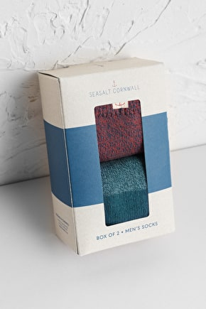Men's Bloomin' Good Organic Cotton Socks Box Of 2 - Seasalt Cornwall