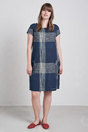 Unique Yarn Dyed Knee Length Rocambole Dress - Seasalt