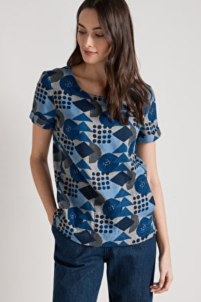 Pretty Blouse Style Top. In Cotton & Unique Seasalt Prints
