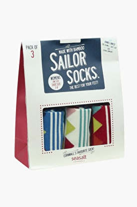 Womens Sailor Socks Gift Bag O' 3