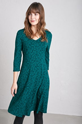 Tempera Dress - Fit & Flare Bamboo Dress - Seasalt Cornwall