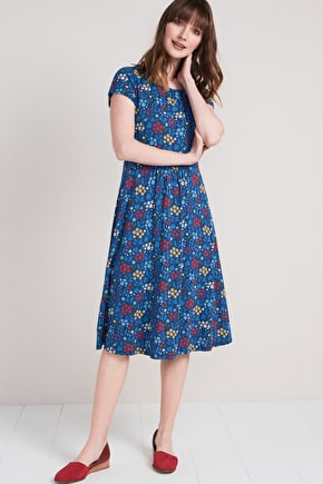 Carnmoggas Printed Bamboo Long Dress - Seasalt