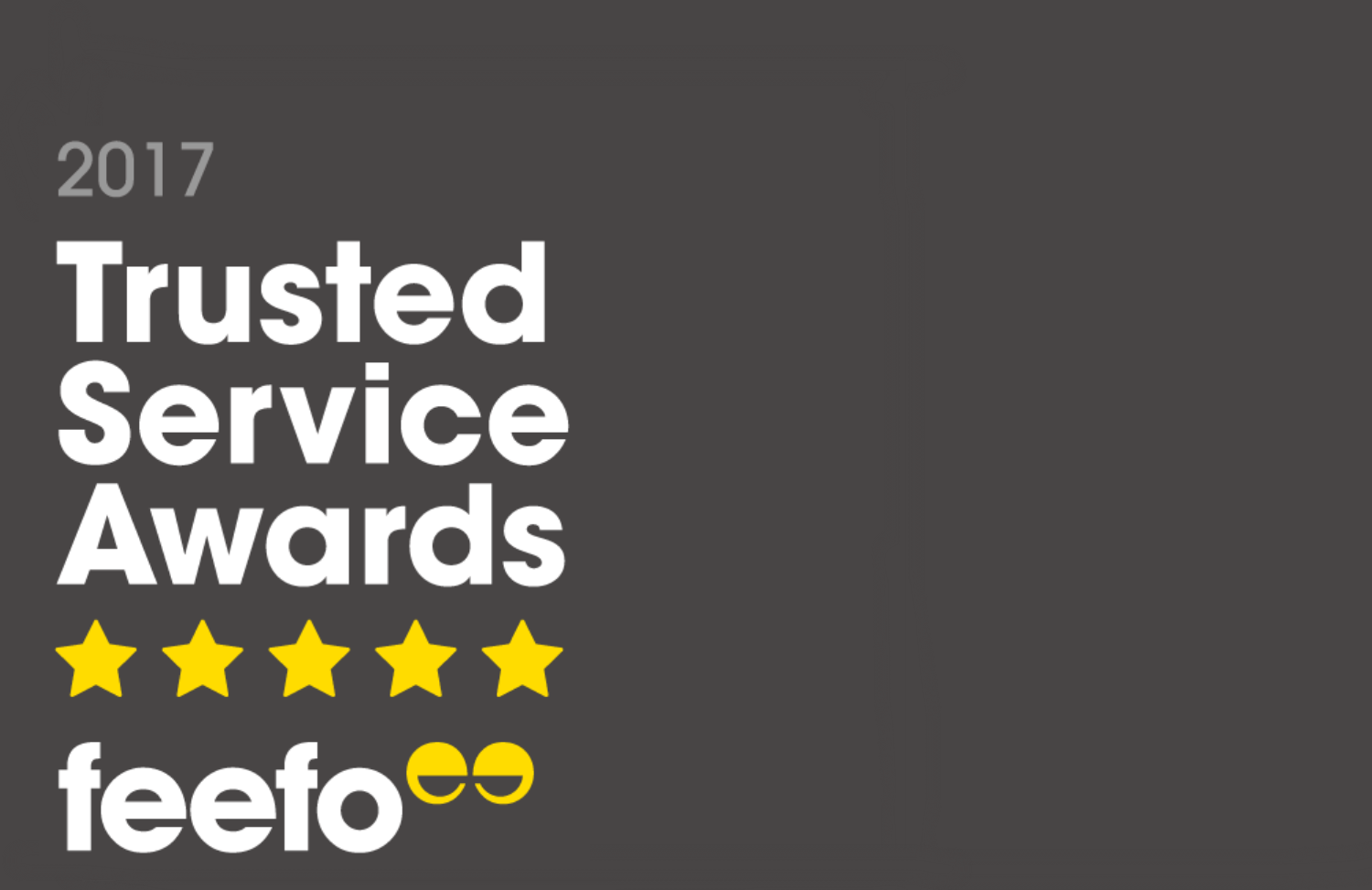 We've Won The Feefo Gold Trusted Service Award