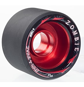 Sure-Grip Zombie Max 62mm Quad Derby Wheels 95A (4pk) Red