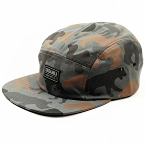 Organika Animal Camo 5 Panel Cap - Charcoal