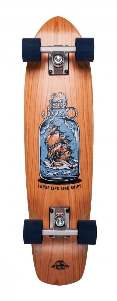 Image of D-Street Cherry Loose Lips Complete Cruiser - Natural 28""