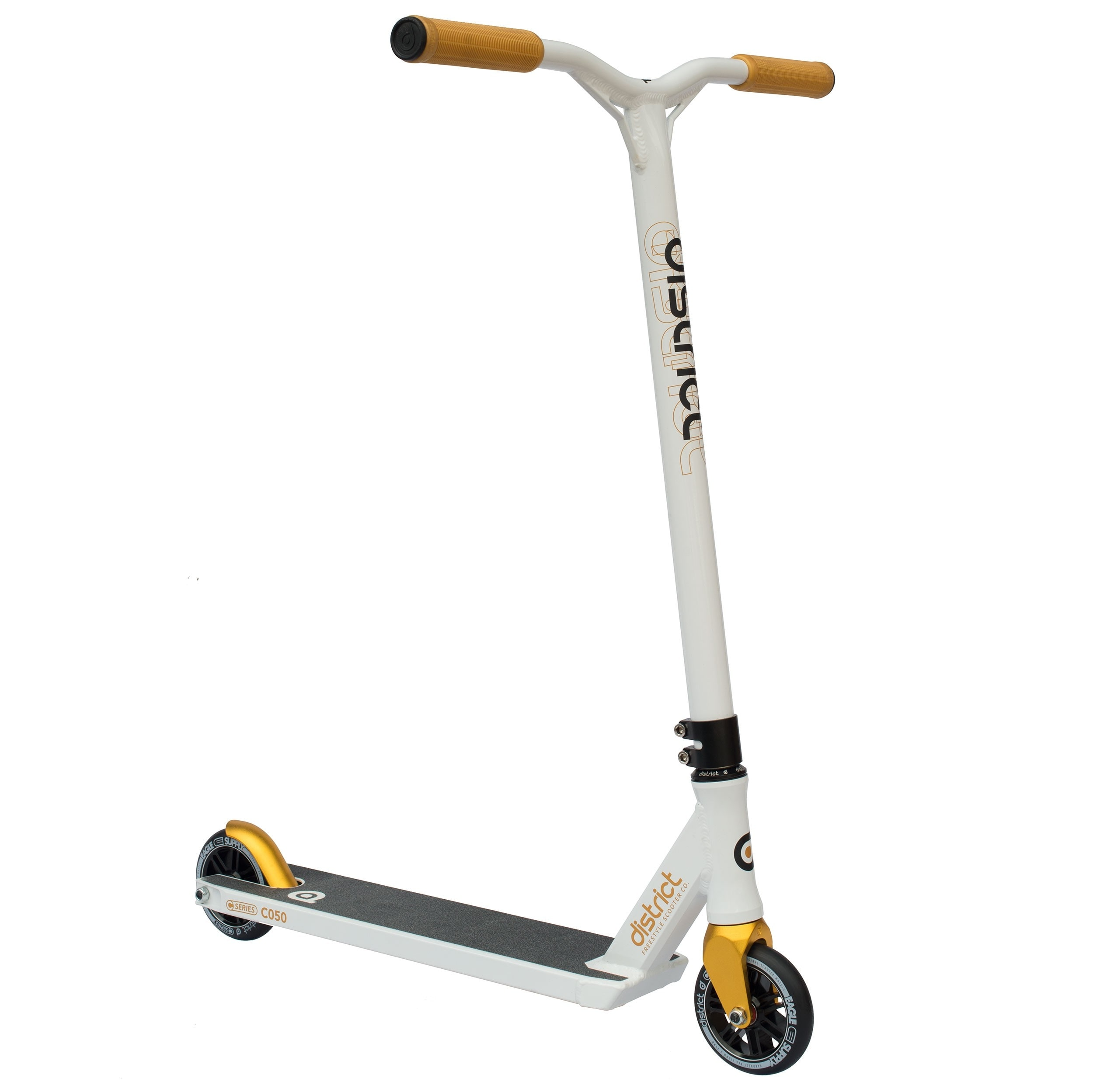 Image of District 2017 C-Series C050 Complete Scooter - White/Gold