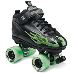 Sure-Grip Rock Flame Quad Rollerskates