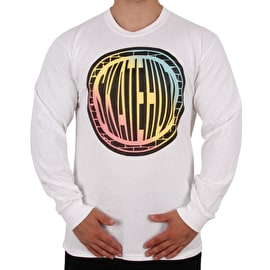 SkateHut Pastel Gradient Long Sleeve T Shirt - White
