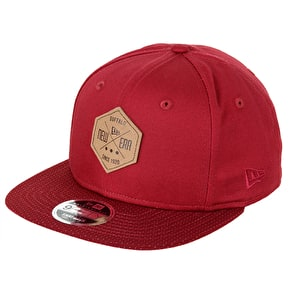 New Era 9FIFTY NE Hex Patch Cap - Cardinal