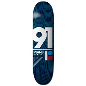 Plan B Team 91 B Skateboard Deck - 8.25