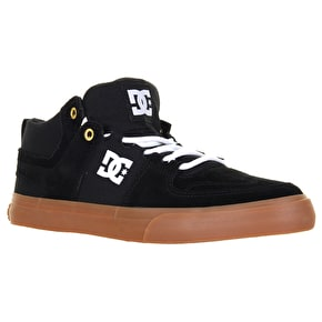 DC Lynx Vulc Mid Skate Shoes - Black/White/Gum