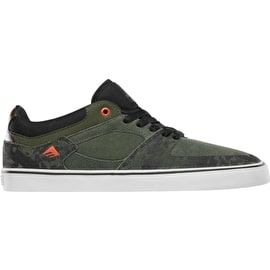 Emerica The Hsu Low Vulc Skate Shoes - Green/Black/White