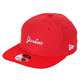 New Era 9FIFTY NY Yankees Wordmark Cap - Scarlett