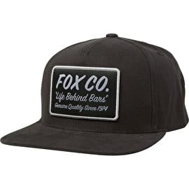 Fox Resin Snapback Cap - Black