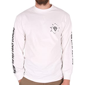 Diamond Outshine Long Sleeve T-Shirt - White