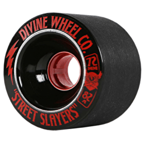 Divine Street Slayers 72mm 82a Longboard Wheels - Black (Pack of 4)
