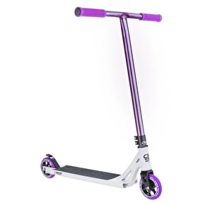 Crisp Ultima 2015 Complete Scooter - Satin White/Raw Purple