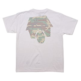 SkateHut Hut Dot Logo Kids T shirt - White/Camo