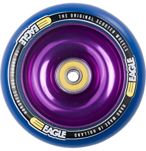 Eagle Purple Anodised Full Metal Core Blue PU Wheel - 110mm