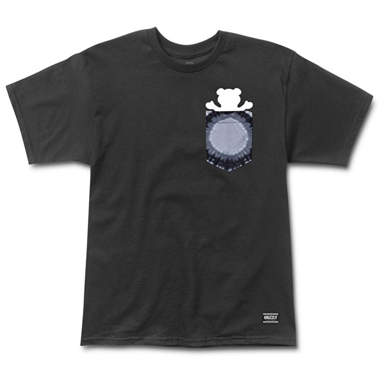 Grizzly Eclipse Tie-Dye Pocket T-Shirt - Black