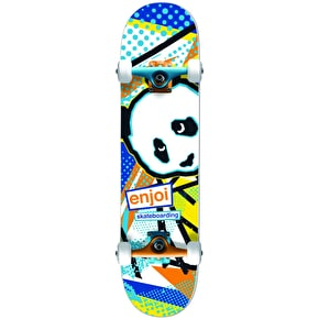 Enjoi 1985 Called Premium Complete Skateboard - Blue/Orange 7.75