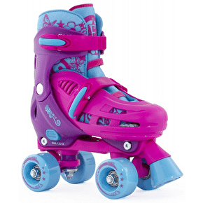 SFR Hurricane Adjustable Quad Roller Skates - Pink