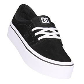 DC Trase Platform SE Womens Skate Shoes - Black/White