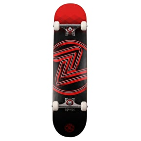 Z-Flex Logo Complete Skateboard - Red Hex - 7.75